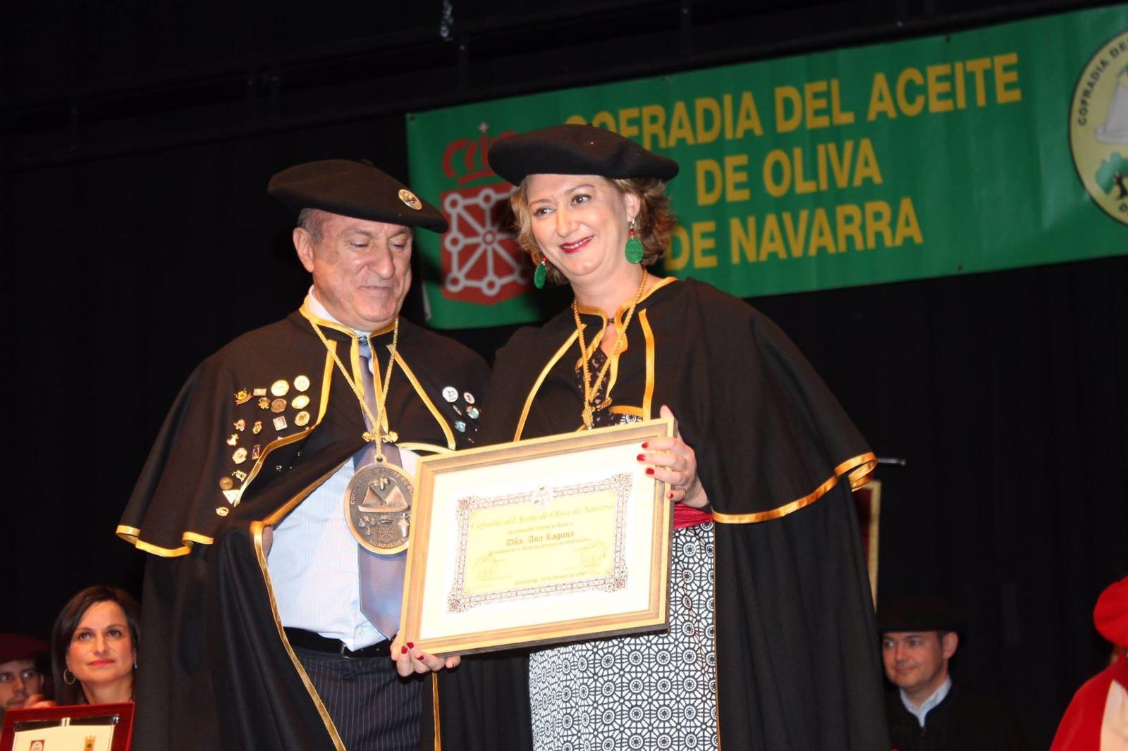 Ana Laguna, nueva embajadora del aceite navarro
