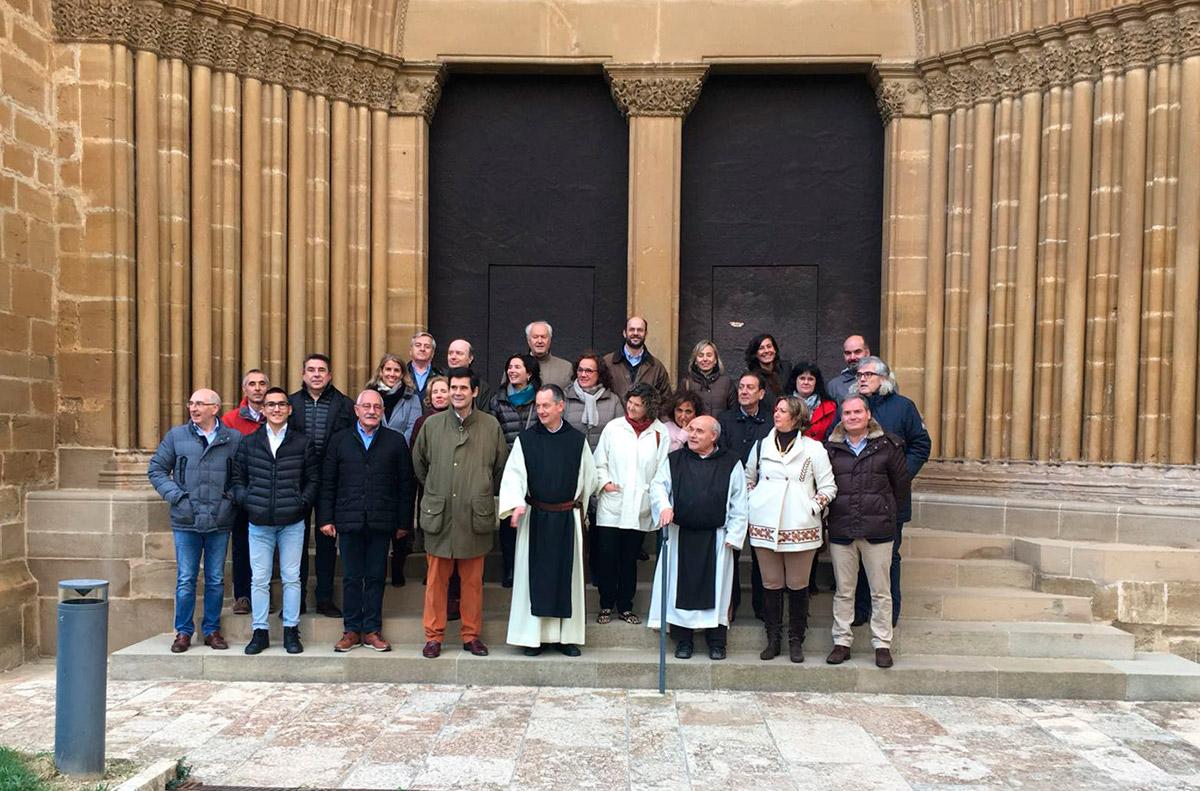 Cata de vinos en el Monasterio de la Oliva